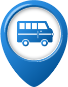Tour Bus Pin Icon